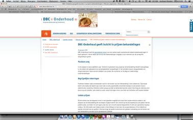 nieuwsbericht DBC onderhoud